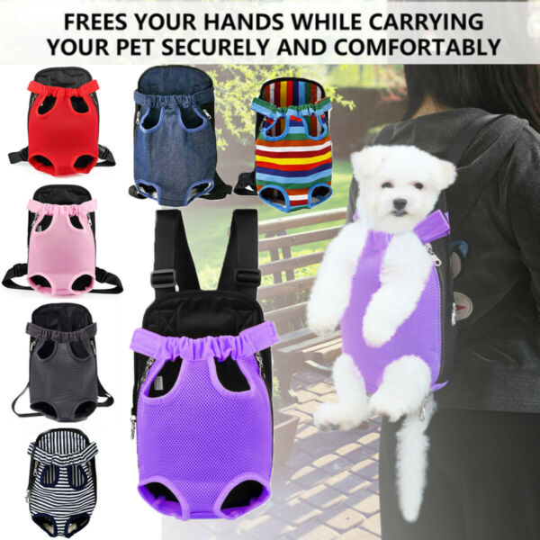 Small Pet Cat Puppy Dog Carrier Front Pack Hiking Backpack Head Legs Out MORE $11.25