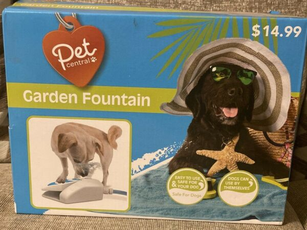 Pet Central Outdoor Garden Water Drinking Fountain Press Step Operated NEW $9.71