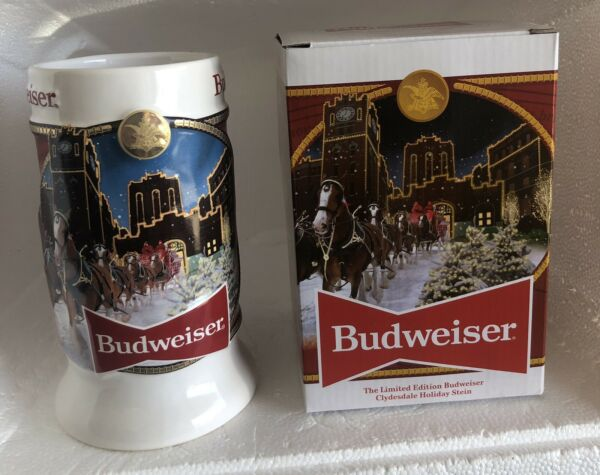 2020 Budweiser Holiday Stein Mug Annual Christmas Series Clydesdale New In Box