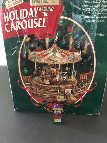 10335 Mr Christmas Holiday Around The Carousel Replacement Ticket Booth