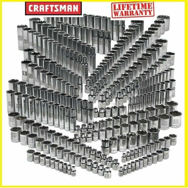 Craftsman 299 piece Ultimate Easy Read Deep Standard SAE amp; Metric Socket Set NEW