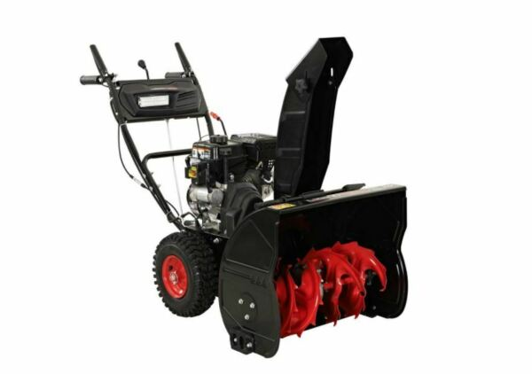 24 in. Two Stage Gas Snow Blower with Electric Start Removal Cleaning Equipment