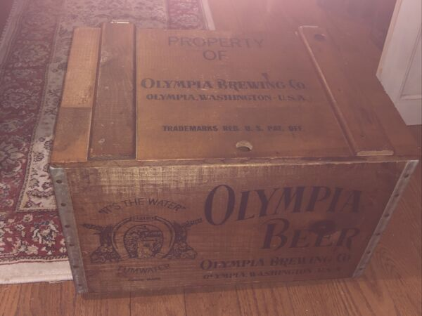 Vintage Olympia Brewing Co Beer Crate Box Olympia WA