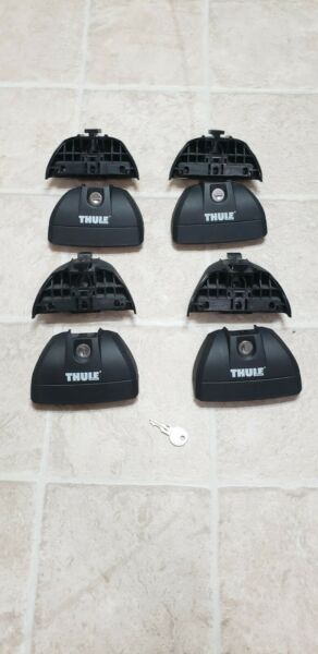 Set Of 4 Thule 460R Rapid Podium Footpack With 4 Lock cores and 1 key Used $125.00