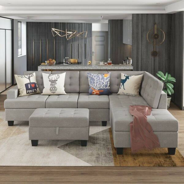 Living Room Furniture Sectional Sofa with Chaise Lounge&Storage L Shape Couch $959.99