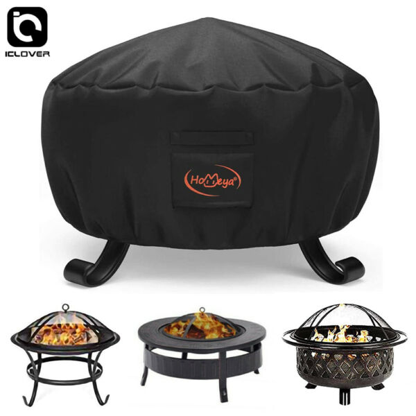 32 inch Patio Round Fire Pit Cover Waterproof UV Sun Protector Grill BBQ Covers $19.99