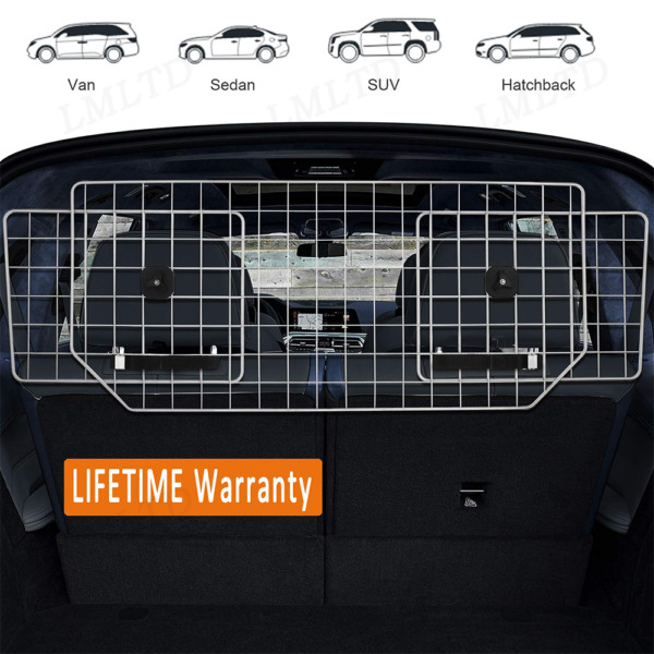 Car Pet Fence Dog Car Barrier Adjustable Pet Metal Barrier SUVs Cars Vehicles US $44.99