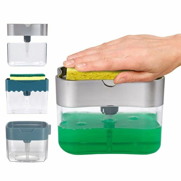 Soap Dispenser Soap Pump Manual Press Liquid Soap Dispenser With Washing Sponge