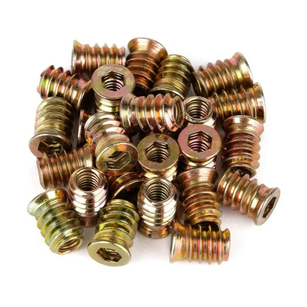 40Pcs Anwenk 1 4quot; 20 x 15mm Furniture Screw in Nut Threaded Wood Inserts Bolt... $13.99
