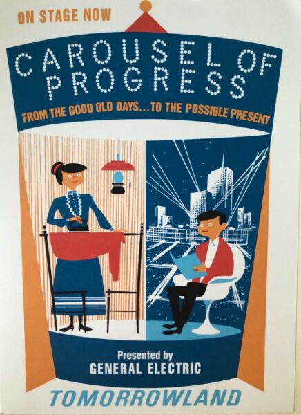 Carousel of Progress Attraction Poster signed by Disney Legend Bob Gurr
