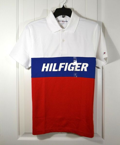NWT MEN#x27;S TOMMY HILFIGER SPORT WHITE POLO T SHIRT SHORT SLEEVE SZ S XL $33.00