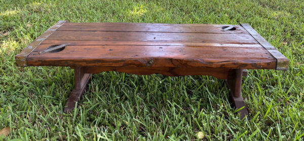 Liberty Ship Hatch Door Cover Coffee Heavy Wood Table WWII $380.00