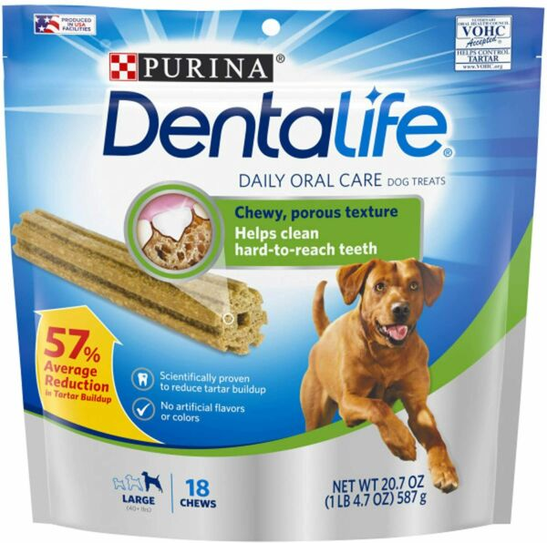 Purina DentaLife Made in USA Facilities Large Dog Dental Chews Daily18CtPouch $10.99