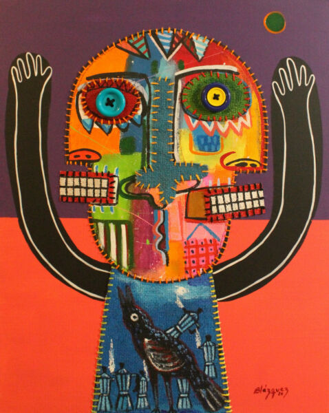 Puppeteer.Original painting.20x16 by Michel Blazquez