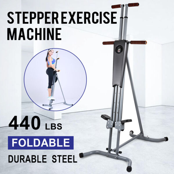 New Maxi Vertical Climber Exercise Equipment LCD Stepper Cardio Fitness Gym $98.50