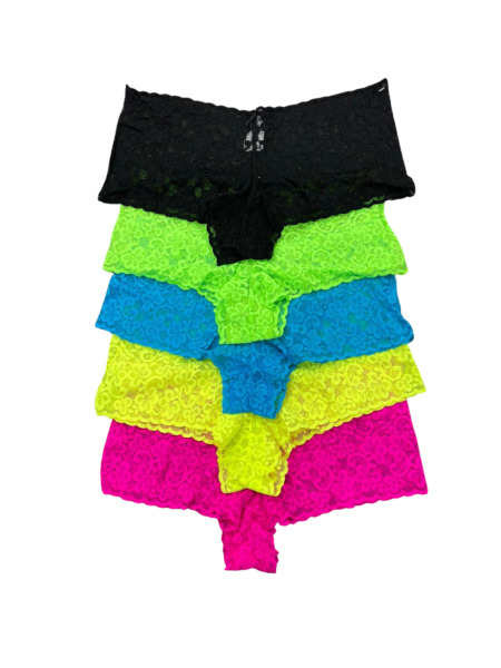 5 PACK New Womens Low Rise Lace Cheeky Brief Supersoft Underwear Panties M XXL