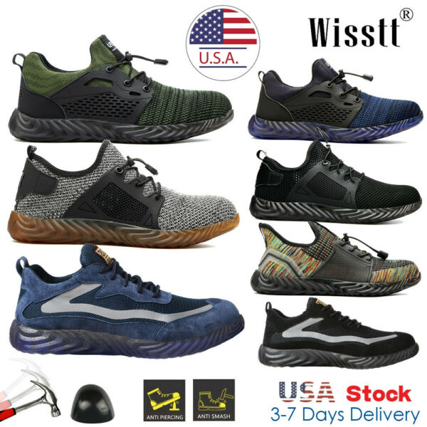 Mens Indestructible Anti Slip Safety Work Shoes Steel Toe Hiking Sneakers Boots $31.01