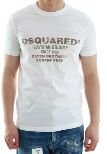 DSQUARED2 MENS GRAPHIC PRINTED T SHIRT SIZE L BRAND NEW $79.98