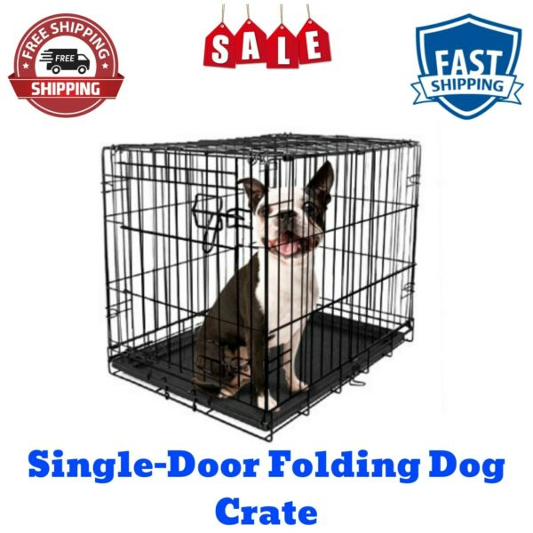 NEW 24quot;L Single Door Folding Dog Crate with Divider by Vibrant Life X Small $26.98