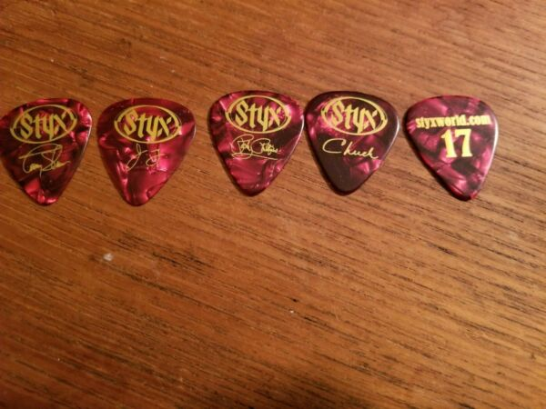 Styx 2017 Guitar Pick Tommy Red Marble $10.00