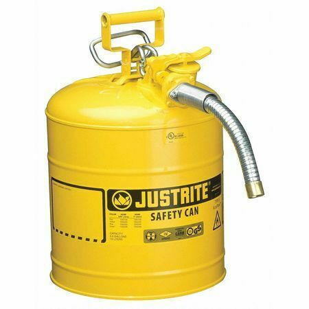 Justrite 7250230 5 Gal. Yellow Steel Type Ii Safety Can For Diesel $86.60