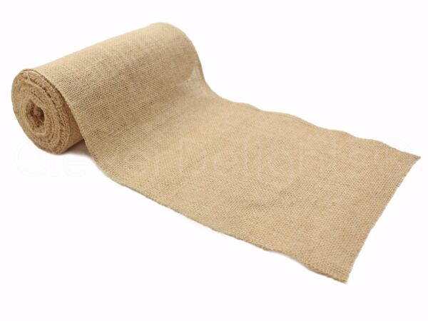 9quot; Premium Burlap Roll 10 Yards Finished Edges Natural Jute Burlap Fabric