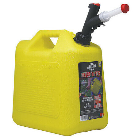 Garageboss Gb356 5 Gal Yellow Plastic Diesel Fuel Can $21.72