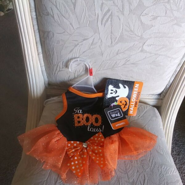 AUTHENTICquot; SIMPLY WAGquot; FA BOO LOUSquot; HALLOWEEN FOR DOGS S DOGGIE DRESS $12.99