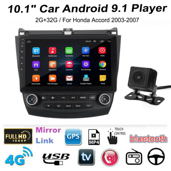 10.1quot; Car Stereo Radio GPS MP5 Player Android for Honda Accord 2003 2007 MA2097 $159.98