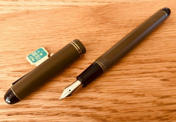 Namiki Pilot Fountain Pen Custom 67 Matt Mustard Yellow Nib Gold 14K Fine