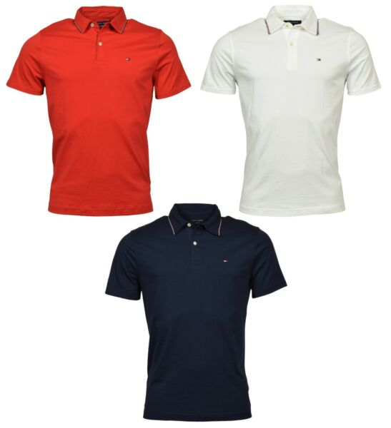 Tommy Hilfiger Men#x27;s Classic Fit Knit Logo Polo Shirt $29.99