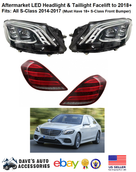Aftermarket for S CLASS S63 S550 Headlights amp; Taillight LED AMG S65 W222 NEW $2200.00