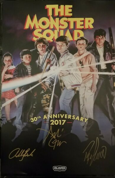 Alamo Drafthouse THE MONSTER SQUAD 30th Anniversary Cast x3 Hand Signed Poster