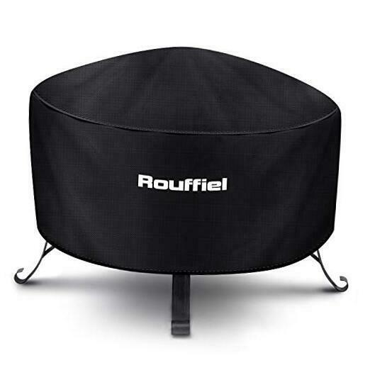 Fire Pit Cover 36 inch Round Outdoors Gas Pit Cover Waterproof Heavy Black