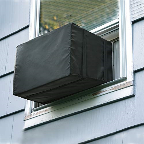 Luxiv Window Air Conditioner Cover Outdoor Outside Window AC Unit Cover Black