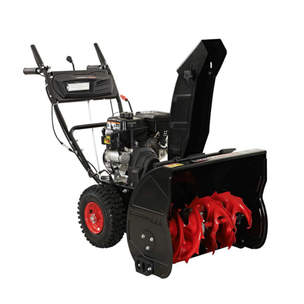 24 In. Two Stage Gas Snow Blower With Electric Start
