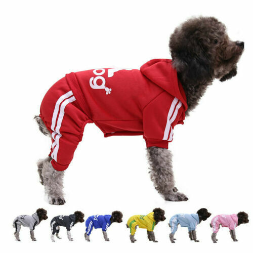 Pet Dog Clothes Cat Puppy Coat Winter Hoodies Warm Sweater Jacket Clothing $6.99