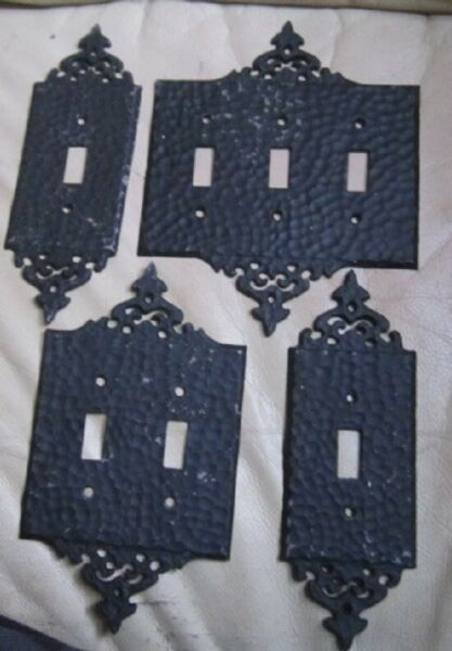 Vintage Antique Wrought Iron Light Switch Plates