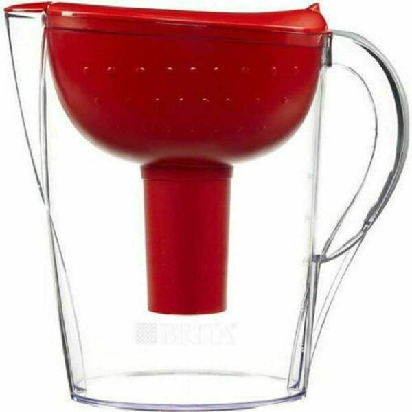 New Brita 10 Cup Capacity Red Water Filter Pitcher