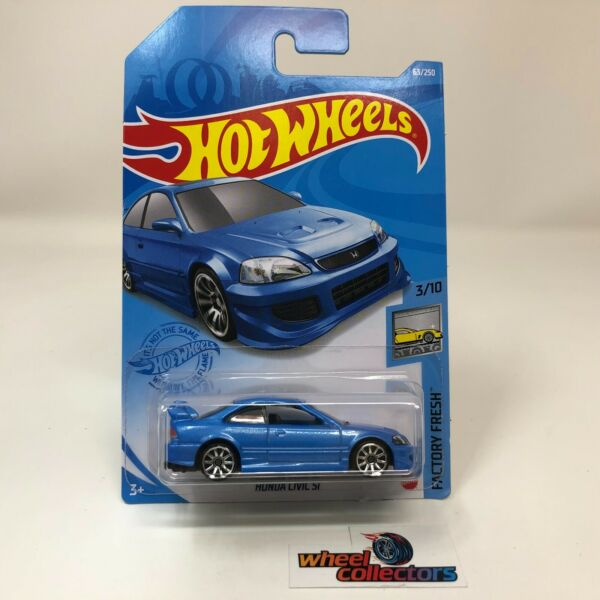 Honda Civic Si #63 * BLUE * 2021 Hot Wheels Case C * ZB8