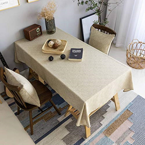 Burlap Tablecloth Solid Farmhouse Checker Table Covers for Party Kitchen Indoor