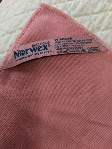 Norwex Window Cloths NEW Pink CONSULTANT DESTASH Free shipping $19.49