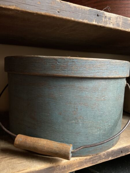Antique Stunning Thick Pantry Box With Handle