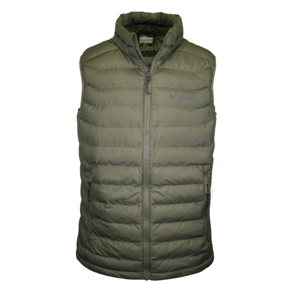 Columbia Men#x27;s Olive White Out Omni Heat Puffer Vest 316