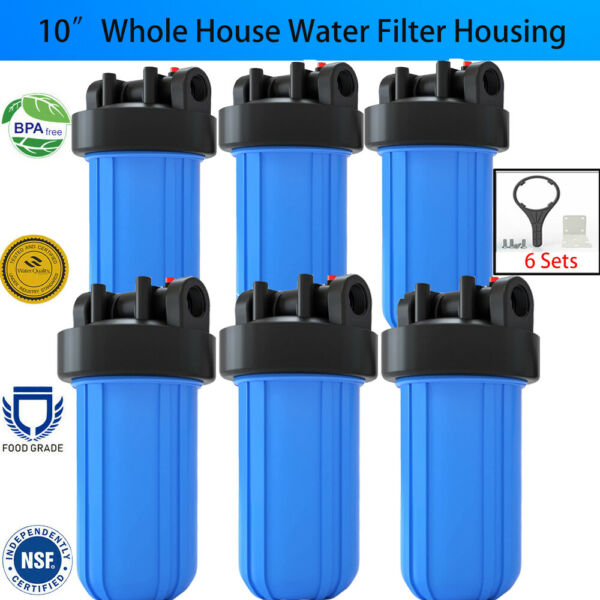 10quot; Big Blue Water Filter Housing Whole House Drinking Water Filtration System