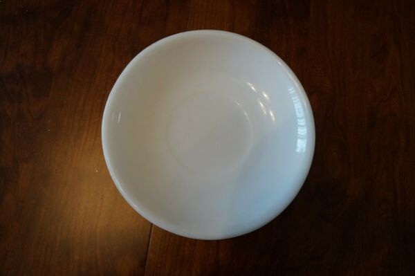 Vintage White Corning Plate 1951 T.M. Reg; 7.5 in Wide
