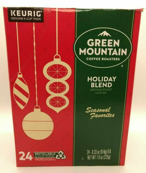 BOX WEAR Keurig Green Mountain Coffee Holiday Blend Coffee K Cup Pods 24 Count