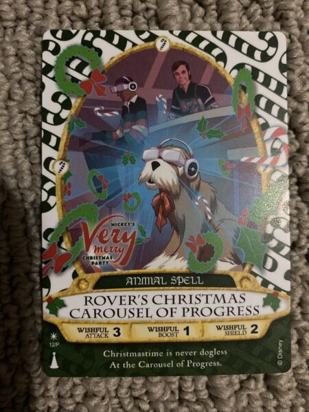 ROVER Carousel Of Progress P12 Disney Sorcerer Magic Kingdom Rare Party Card