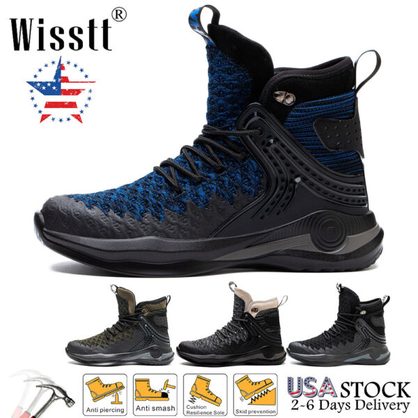 Mens Waterproof Indestructible Work Boots Sports Steel Toe Safety Shoes Sneaker $39.47