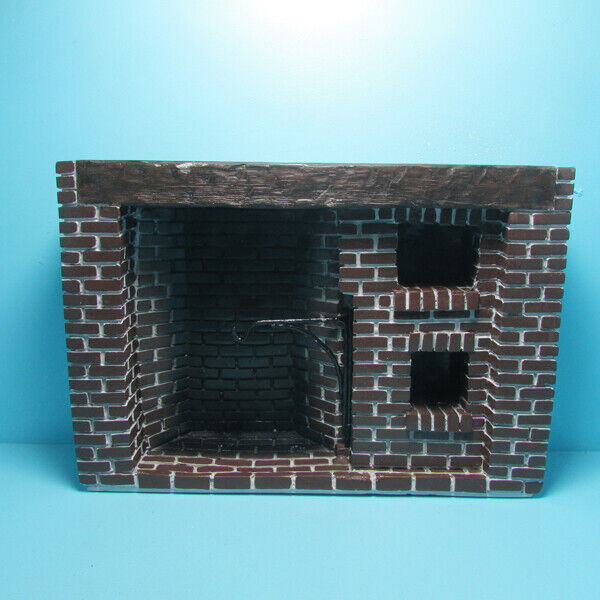 Dollhouse Miniature Colonial Walk In Cooking Fireplace in Brick YM0244